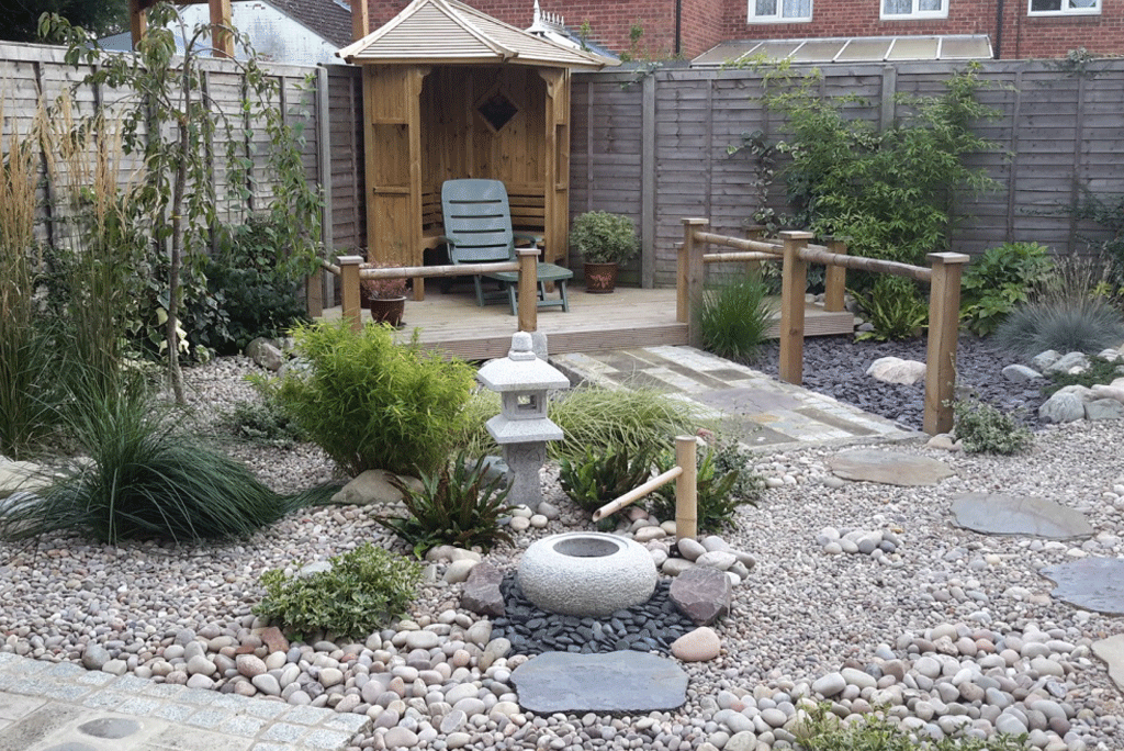 Gravel gardens jw landscapes for Japanese style water features
